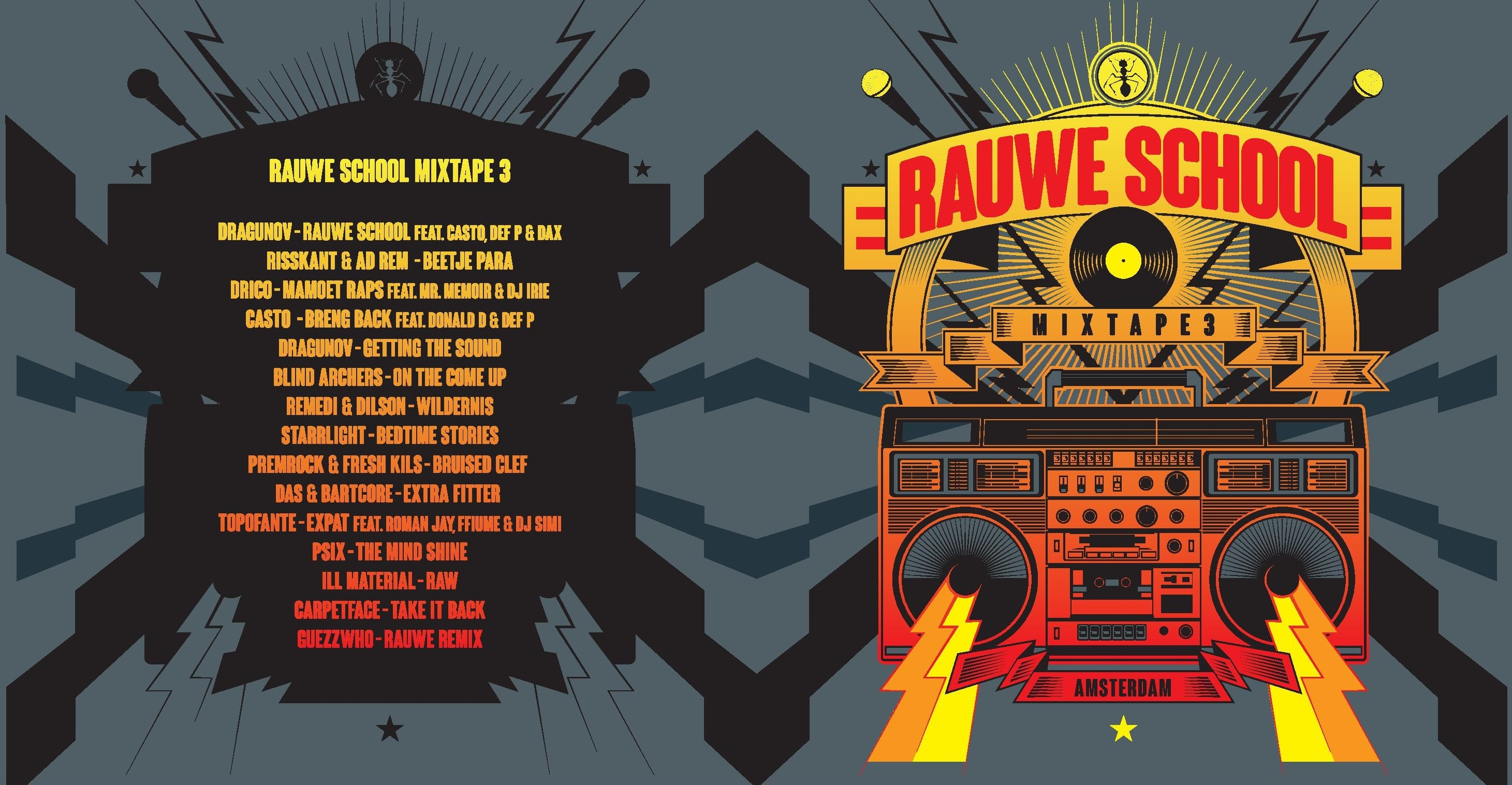 Rauwe School Mixtape 3 T shirt2